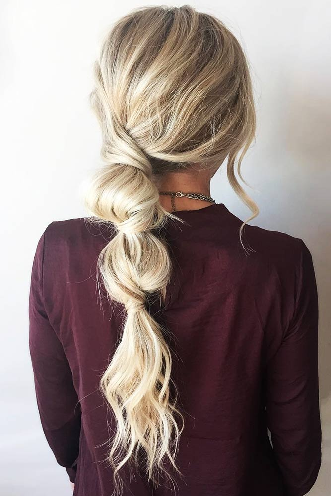 Bubble Ponytail Messy #ponytail #braids