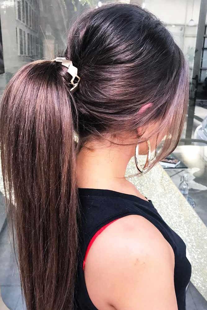 Straight Ponytails #ponytails #updo
