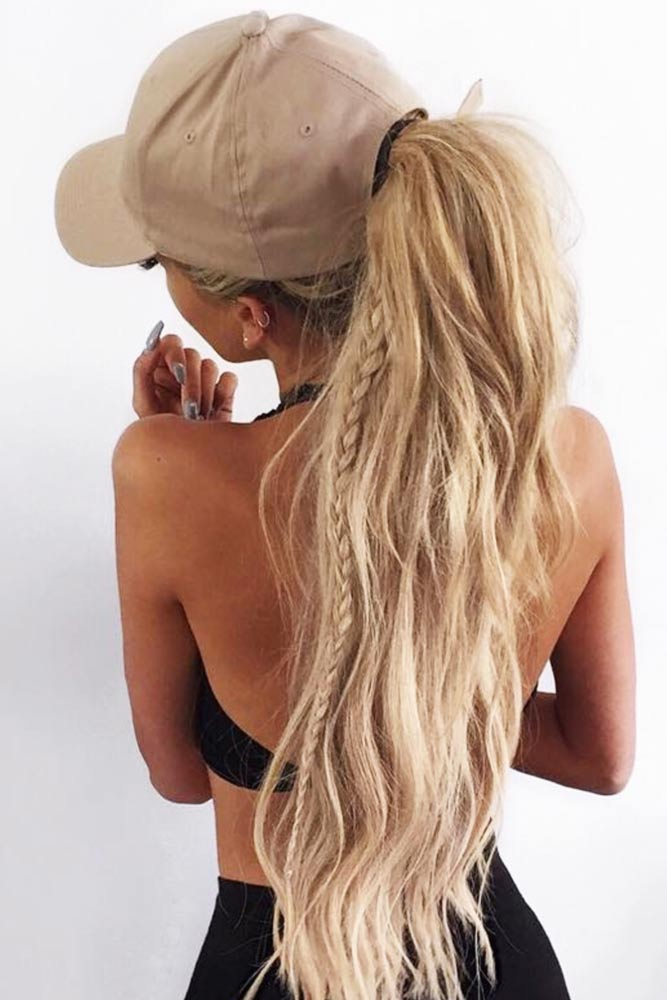 High Ponytails Fench Braid #ponytail #updo #braids