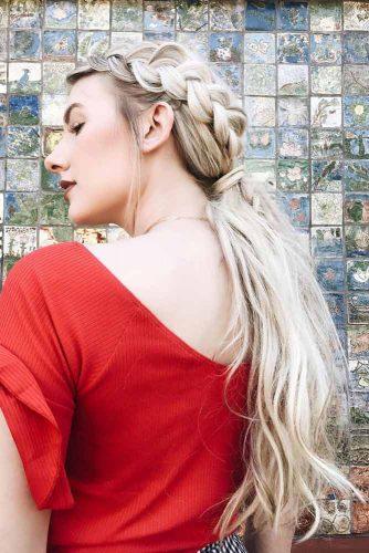 Side Dutch Long Braid #ponytail #updo #braids