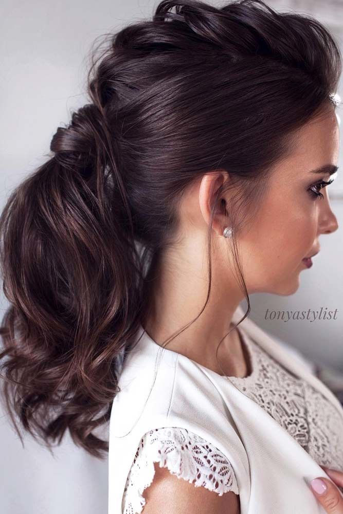 Low Voluminous Ponytail #ponytails #updo