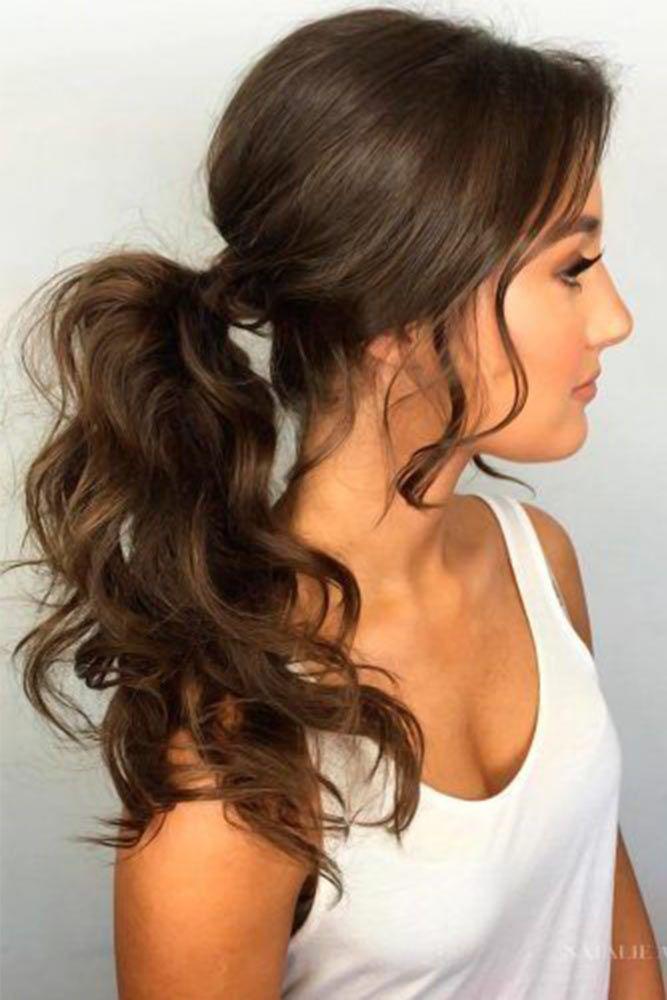 Wavy Ponytails #ponytails #updo
