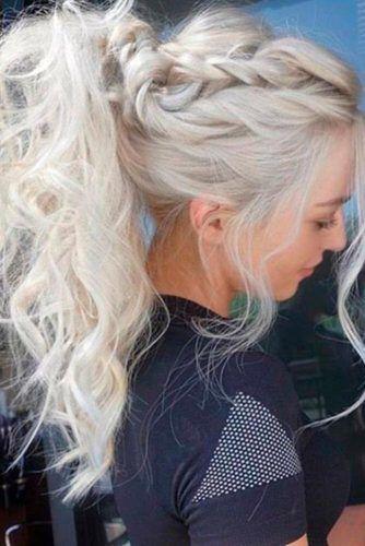 Rope Braid Ponytail Blonde #ponytail #braids #updo