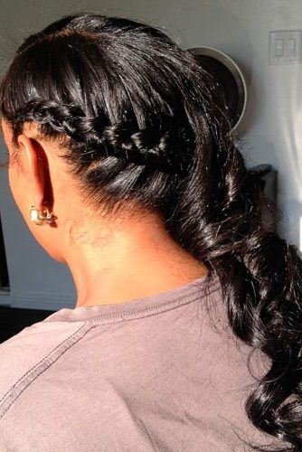 Twisted Side Ponytail #ponytail #braids #updo #naturalhair