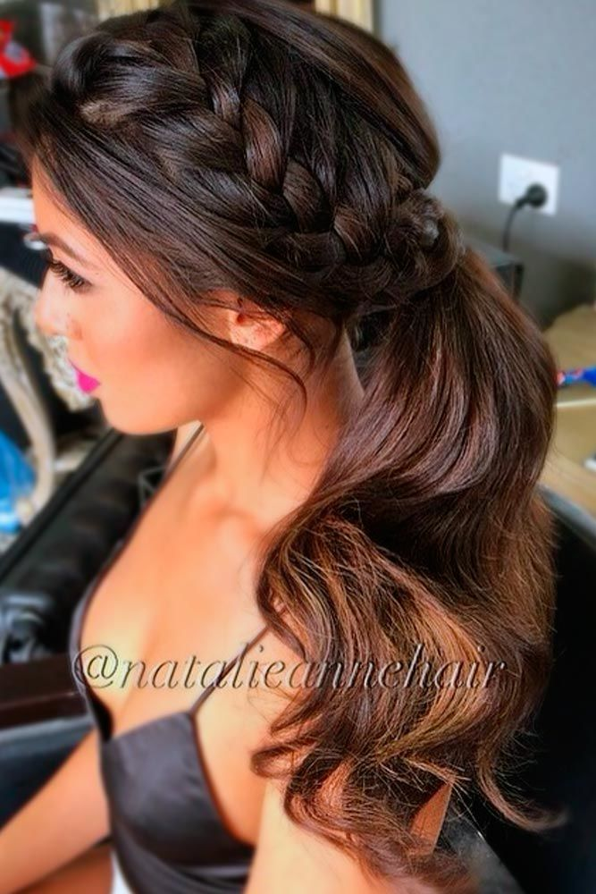 Side French Braid #ponytails #updo
