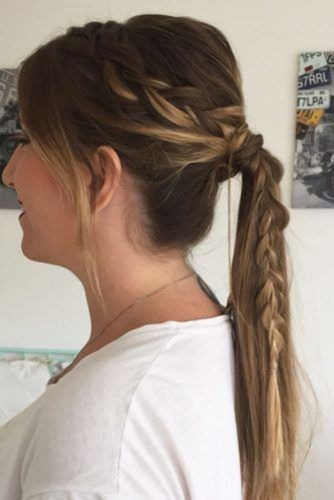 Side Dutch Braid Pony #ponytail #updo #braids