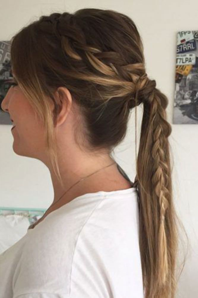 Side Dutch Braid #ponytails #updo