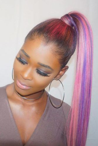 Shiny And Sleek Pony #ponytail #updo #naturalhair