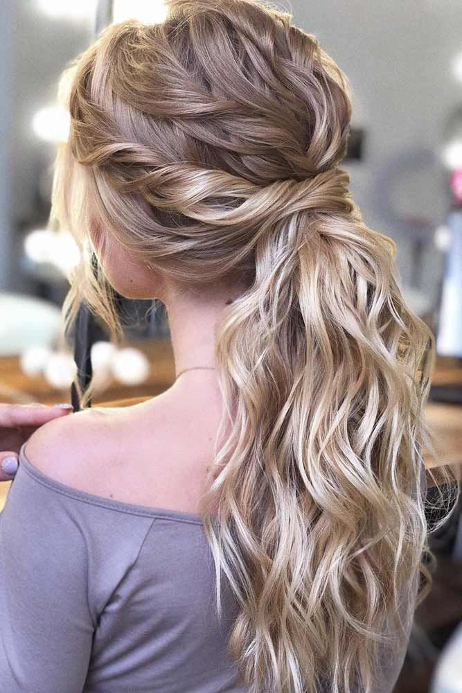 Twists Into Ponytail Balayage #ponytails #updo