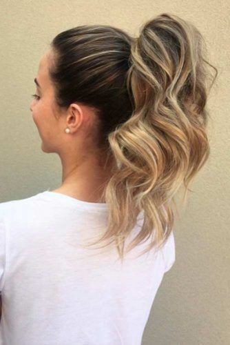 High Ponytails Blonde #updo #ponytail