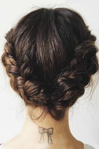 Eye-Catching Braided Updos Crown #braids #updo