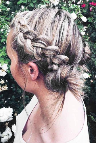 Marvelous Braid Hairstyles Knots #braids #updo