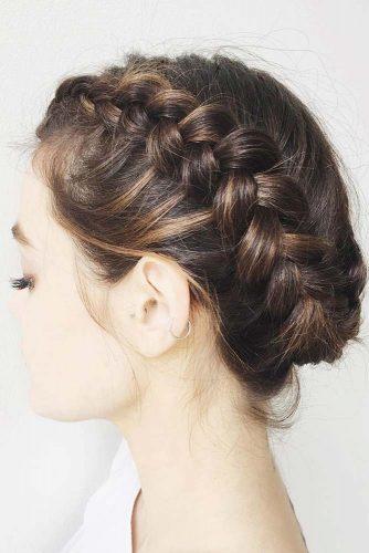 Dutch Braids For Short Hair Updo #braids #updo