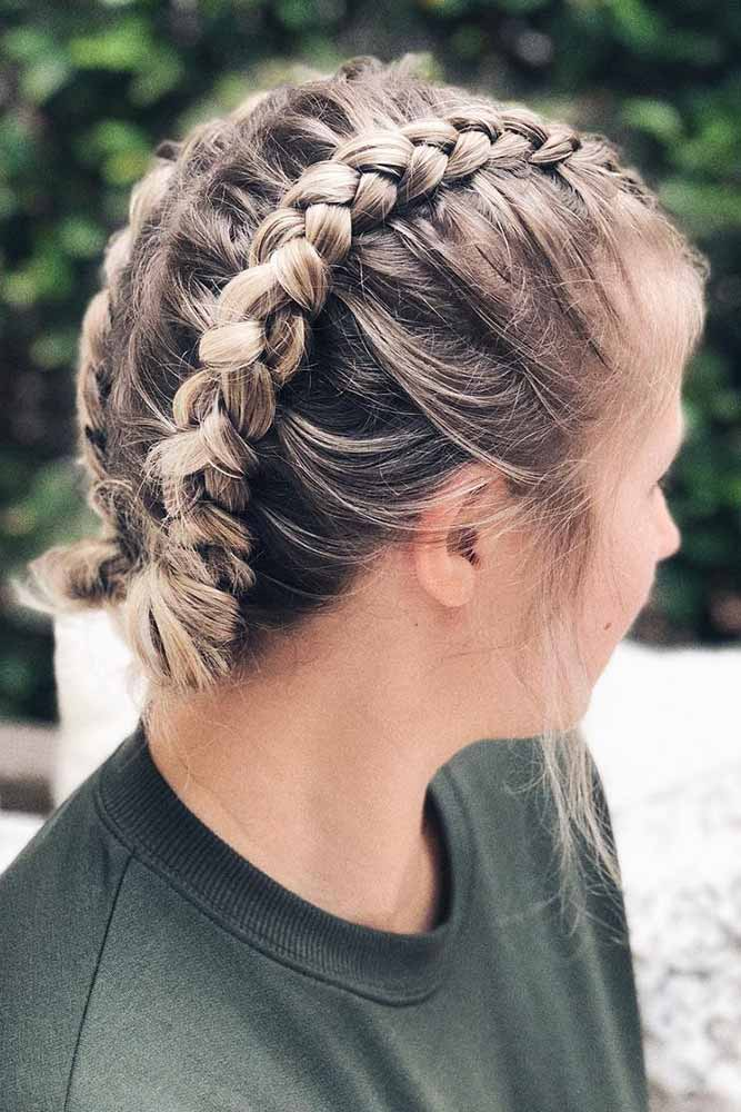 Updo Braids Styles Low Knots #braids #knot #updo