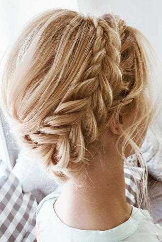 Updo Braids Styles Halo #braids #updo