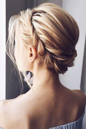Beautiful Short Braided Hair Halo #blondehair #braids