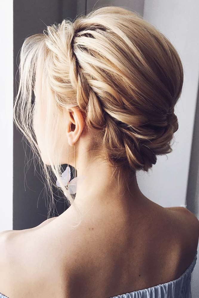 Beautiful Short Braided Hair Halo #blondehair #braids