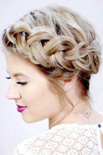 Marvelous Braid Hairstyles Crown #braids #updo