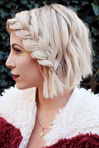 Beautiful Short Braided Hair #braids #shorthair