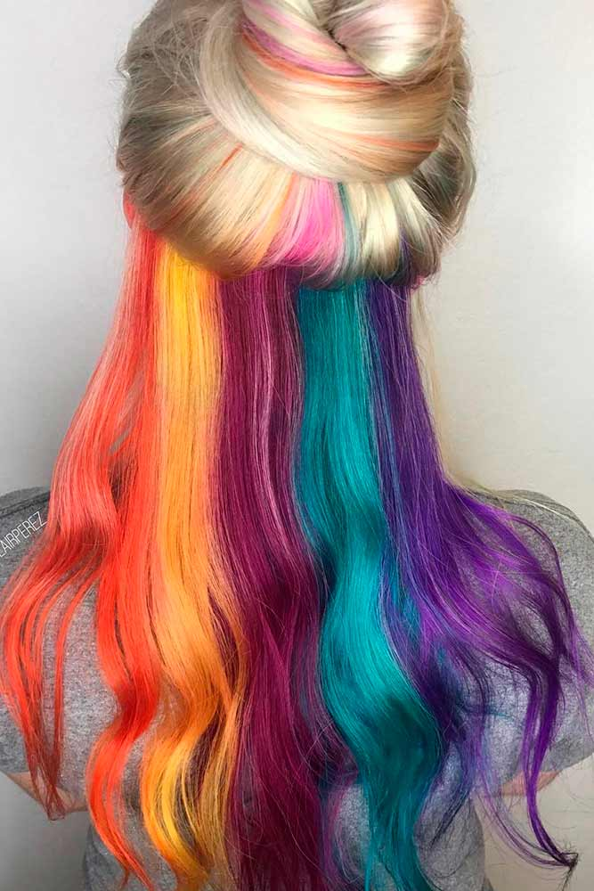 Cool Hidden Rainbow Hair picture1