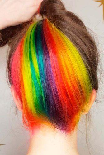 Hidden Rainbow on Short Hair picture1