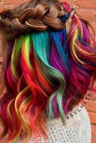 Hidden Rainbow on Short Hair picture3