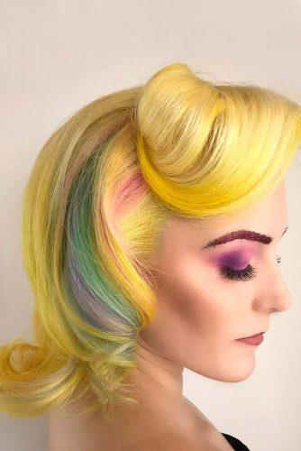 Hidden Rainbow on Short Hair picture2