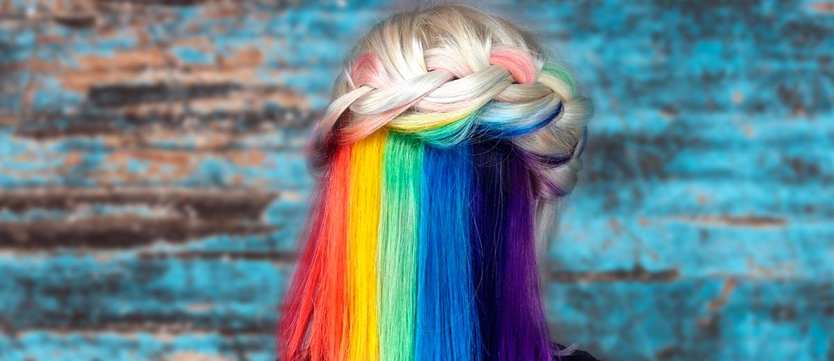Mesmerizing Hidden Rainbow Hair Lovehairstyles Com