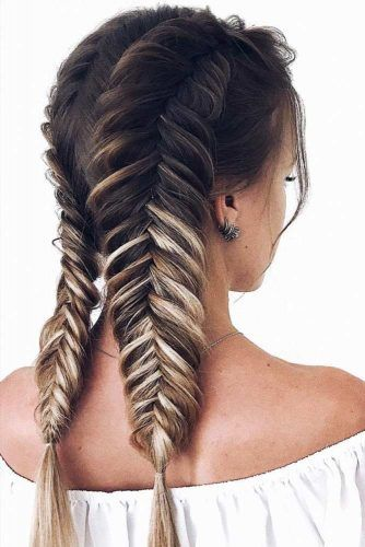 Double Fishtail Braided Styles #braids