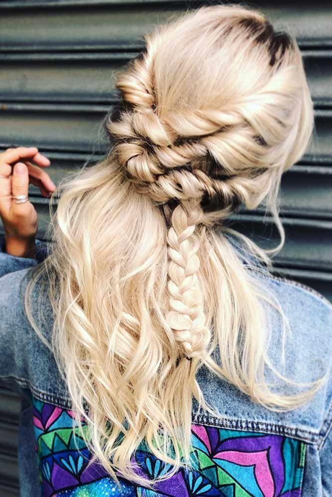 Braided Half-Ups Blonde #springhairstyles