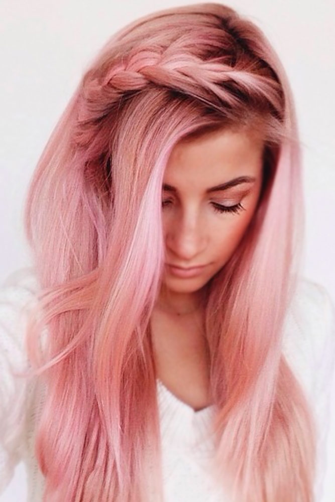 Cute Pink Hairstyles for Long Hair picture 1
