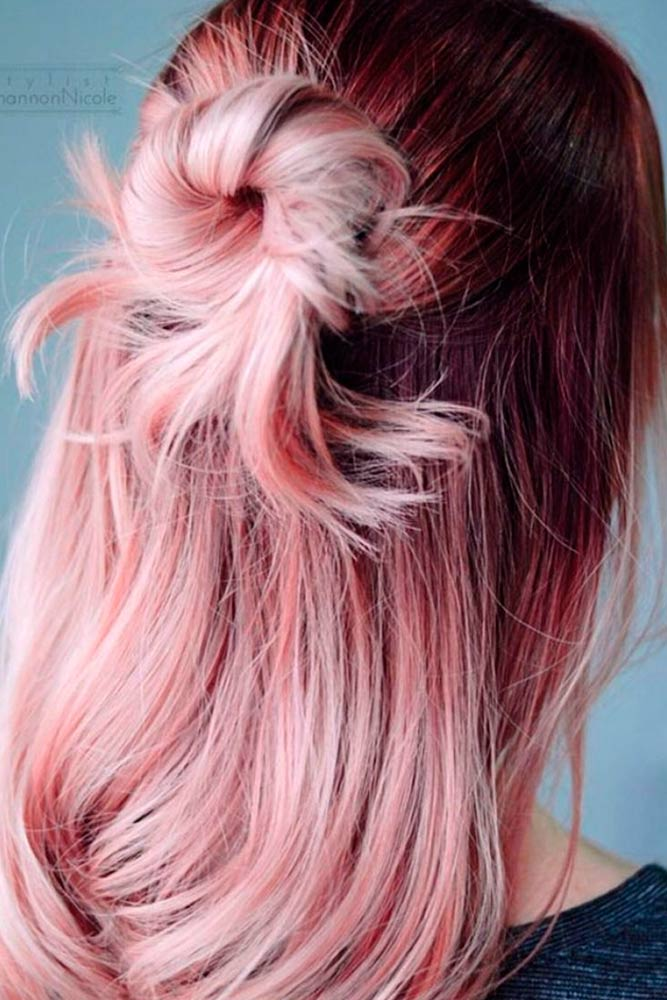 Cute Pink Hairstyles for Long Hair picture 3