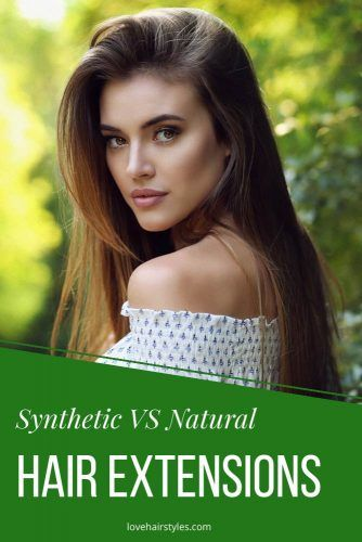 Synthetic vs Natural Hair Extensions #hairextensions