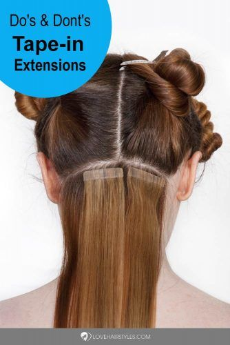 Tape ins #hairextensions