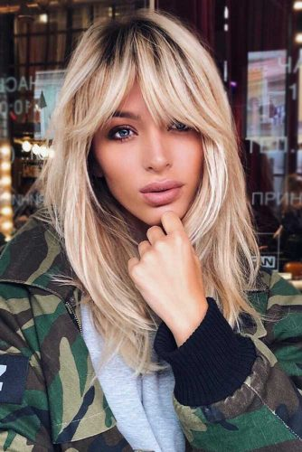 Funky Hair Styles with Bangs Layered Cut