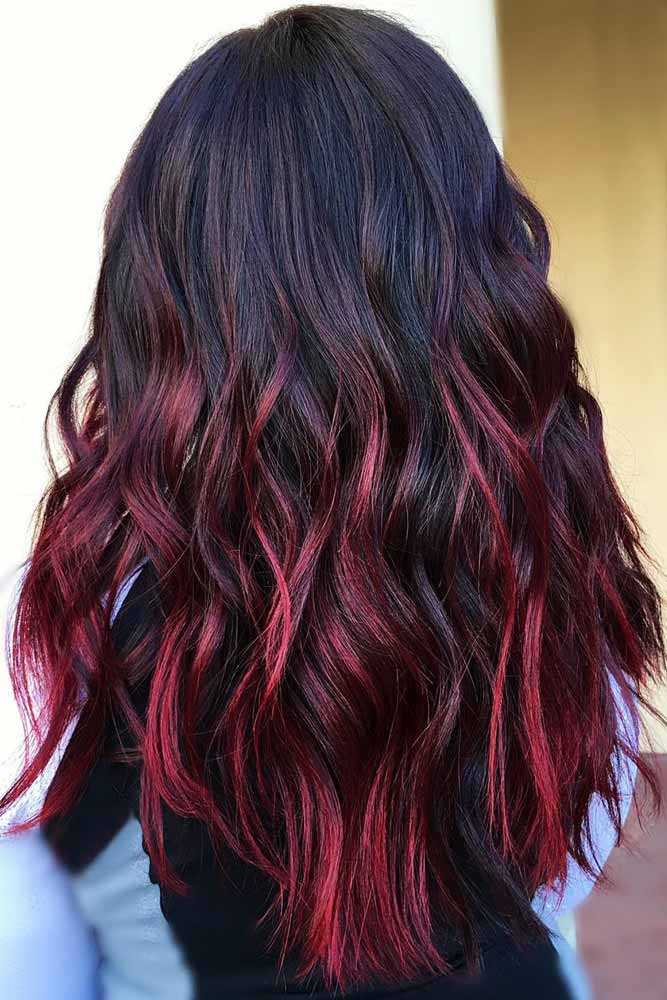 Burgundy Ombre Hair #ombre #brunette