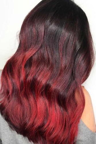 Brunette To Ruby Rouge #ombre