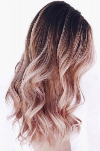 Black & Rose Gold #ombre
