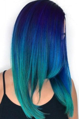 Eclectic Blue Ombre #ombre