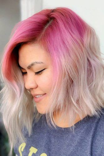 Light Magenta To Platinum Blonde #ombre
