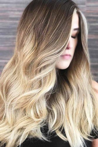 Blonde Ombre Hair with Slightly Cooler Shades Wavy #longhair #blondehair #brunette #ombre