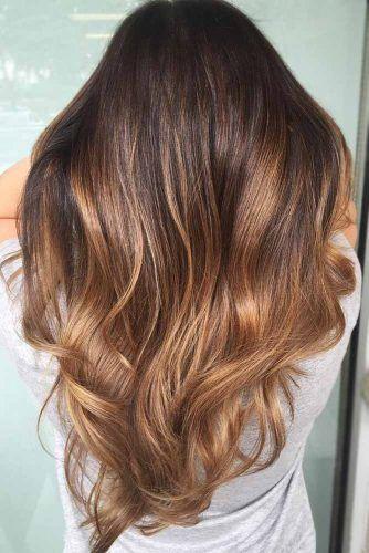 Caramel Ombre Hair #ombre #brunette