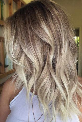 Blonde Ombre Hairstyle for Medium Hair #mediumhair #brunette #ombre #blondehair