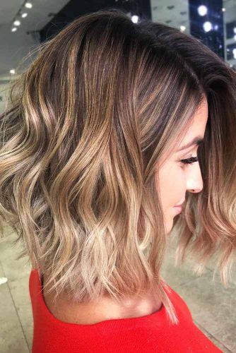 Blonde Ombre Hair with Slightly Cooler Shades Bob #blondehair #brunette #ombre #bob