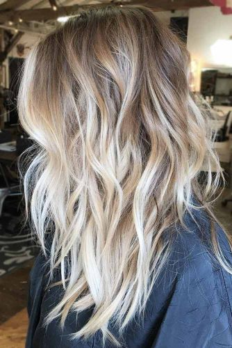 Dirty Blonde Ombre Hairstyle #blondehair #wavyhair