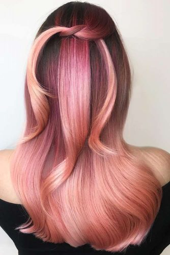 Rose Gold And Blonde Ombre Hair