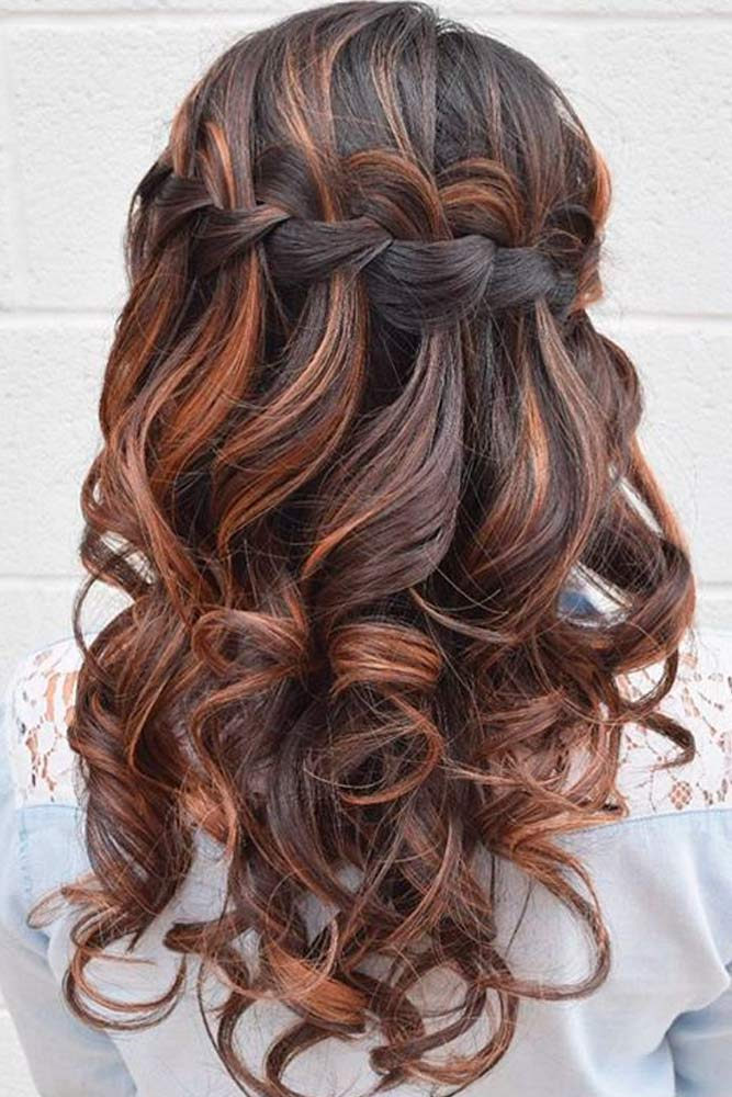 Super Gorgeous Look with Waterfall Braids picture 3