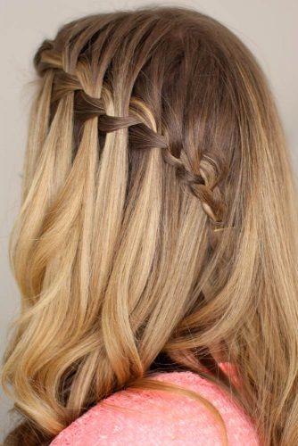 Beautiful Waterfall Braid Hairstyle