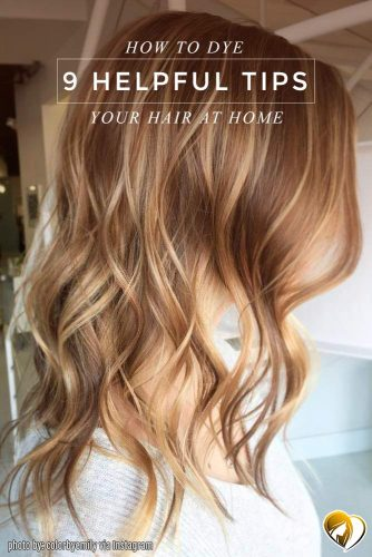 Brunette Hair with Blonde Balayage Highlights