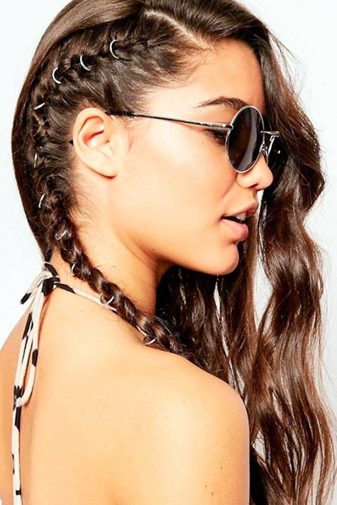 Faux Hawk Side Braids #hairrings #hairaccessories #braids